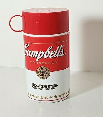 """Vintage Campbell Soup Lunchbox Thermos BPA Free 6.5"""" 11.5 oz Collectible 1998"""