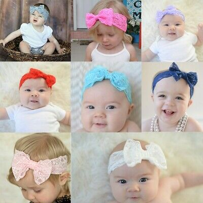Photo Props Hair Accessories Baby Headband Headwrap Hair Band Lace Bow Knot