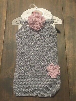 40d71b57727 SO DORABLE BABY Girl Pink 2PC Hand Crocheted Crown and Booties Set 0 ...