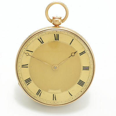 18K Gold Quarter Hour Repeater Pocket Watch with Unusual Cutout Movement CA1810