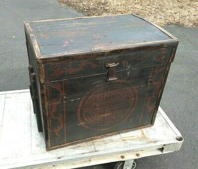 Antique Asian Chinese or Japanese Storage Chest
