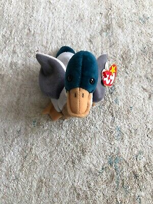"""TY Beanie Babies """"JAKE"""" the Mallard Duck - RETIRED! Rare Find with tag errors"""
