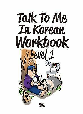 Talk to me in Korean Level 1 Workbook Textbook for Hanguel learning Korean