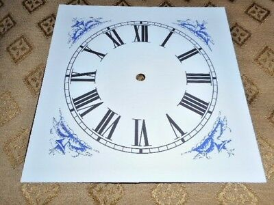 "Mantle-Shelf Paper Clock Dial-5"" M/T - Roman - MATT WHITE - Parts/Spares"