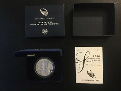 2016 American Eagle One Ounce Silver Proof Coin Us Mint West Point W/certificate