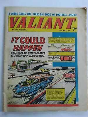 VALIANT vtg comic, 21 May 1966 Captain Hurricane Kelly's Eye World Cup Stars