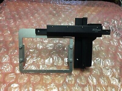 Nikon TI-SAM Attachable Mechanical Stage w/ Plate Holder for Ti Microscope