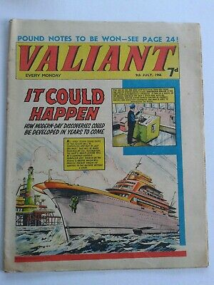VALIANT vtg comic, 9 Jul 1966 Captain Hurricane Kelly's Eye Jason Hyde