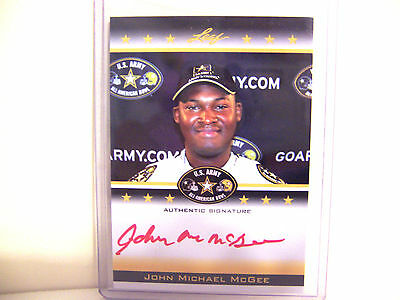 JOHN MICHAEL McGEE 2012 LEAF US ARMY 11/25 RED INK AUTO ROOKIE CARD   FREE SHIP