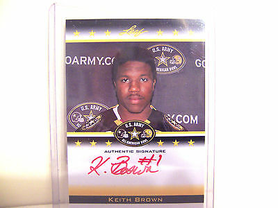 Keith Brown 2012 Leaf Us Army 08/25 Red Ink Auto Rookie Card   Free Ship