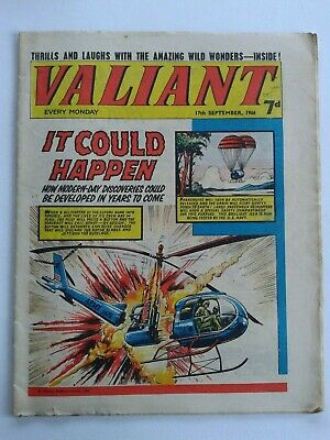 VALIANT vtg comic, 17 Sep 1966 Captain Hurricane Kelly's Eye Mytek the Mighty