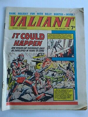 VALIANT vtg comic, 27 Aug 1966 Captain Hurricane Kelly's Eye Jackaroo Joe