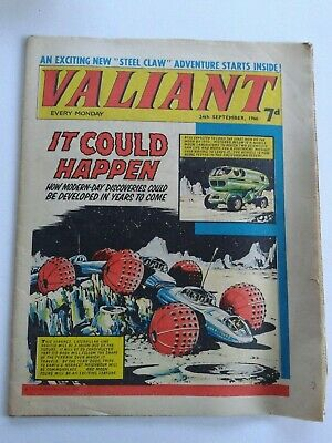 VALIANT vtg comic, 24 Sep 1966 Captain Hurricane Kelly's Eye Jack Justice