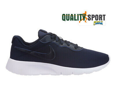 buy popular b482a a37e3 Nike Tanjun Blu Scarpe Shoes Ragazzo Donna Sneakers Palestra 818381 407 2019