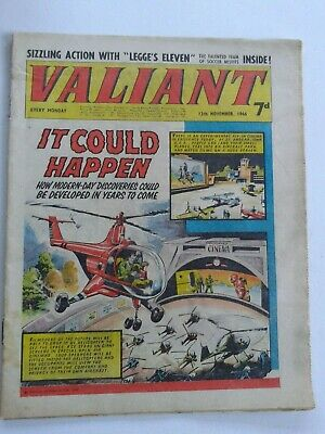 VALIANT vtg comic, 12 Nov 1966 Captain Hurricane Kelly's Eye House of Dolmann