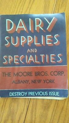 Moore Bros. corp Dairy Supplies and Specialities catalog c1940s Albany NY
