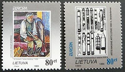 Lithuania stamps - EUROPA 1993-94 -  Painting and rockets - MNH.