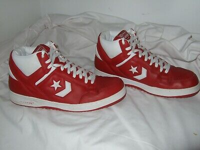 9c5bbd38ac7d66 VINTAGE CONVERSE WEAPON Mens Basketball Shoes size 14 Red White NICE ...