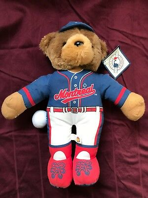 Montreal Expos Stuffed Bear w/ Official MLB Tag BB