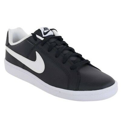 888170512a2 Nike Court Royale Mens Classic Retro Leather Black Trainers UK 7  BRAND NEW