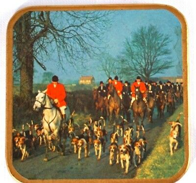 Royal Collection Fox Hunt Coasters WIN EL WARE Vintage Made in England