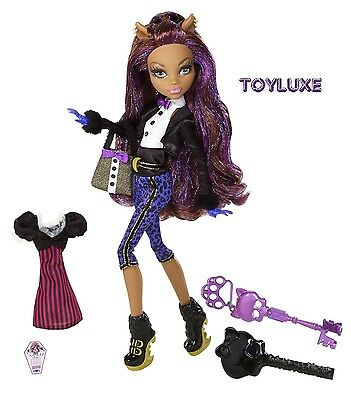 Monster High SWEET 1600 Clawdeen Wolf Birthday Party Ghoul Doll & Key WEREWOLF