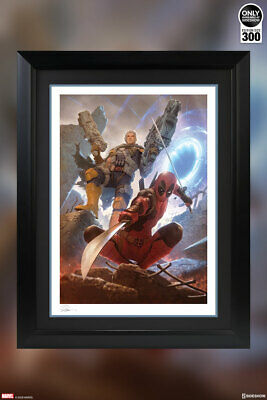 FRAMED SIDESHOW MARVEL DEADPOOL and CABLE  PREMIUM ART PRINT EXCLUSIVE AVENGERS
