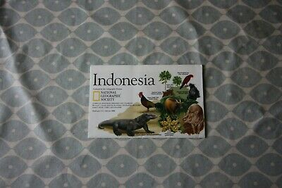 1996 (February) National Geographic Society Political Map of Indonesia