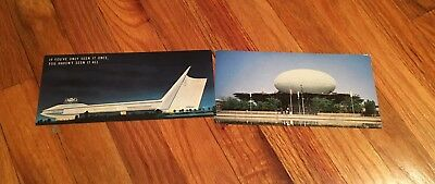 NEW York's World Fair 1964-1965 Futurama & IBM Pavilion 2 Postcards/Brochures