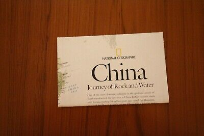 2008 (March) National Geographic Society Physical Map of China