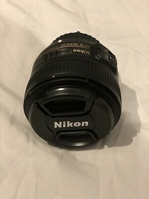 New Without Box: Nikon Nikkor AF-S NIKKOR 50mm f/1.8G Lens with Sun Hood