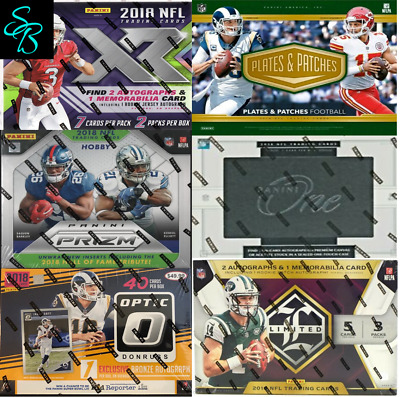 2018 Panini 6-Box Football Mixer Prizm-Limited-One-Plates & Patches-XR-Optic