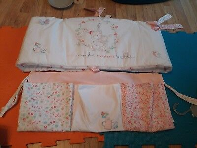 Mothercare My Little Garden Cot Pockets And Bumper