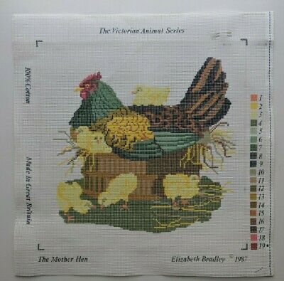 Elizabeth Bradley Painted Needlepoint The Mother Hen Canvas