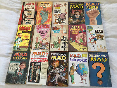 mad magazine paperback books - 15 printed by Signet from circa 1968-71