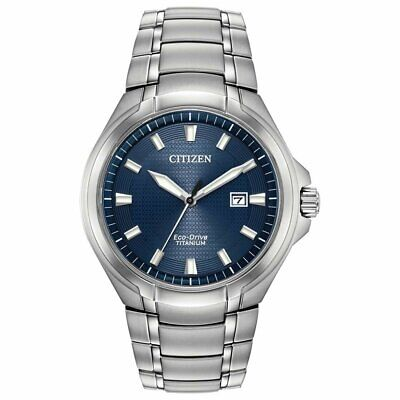 Citizen Paradigm Men's Eco-Drive Blue Dial Silver-Tone 43mm Watch BM7431-51L