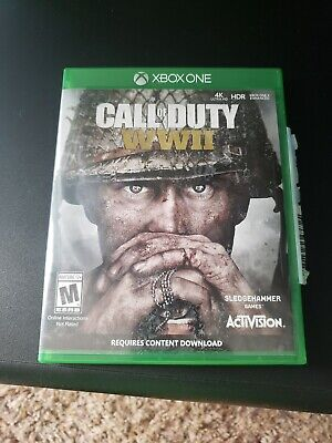 USED Call Of Duty World War 2 WWII WW2 XBOX One (Microsoft, 2017) excellent CD