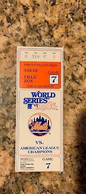 New York Mets World Series 1986 Game 7 Vs. Boston Red Sox ticket stub.