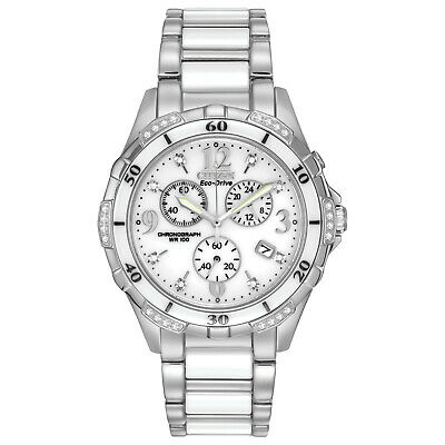 Citizen Eco-Drive Women's Diamond Accents Ceramic Band 40mm Watch FB1230-50A