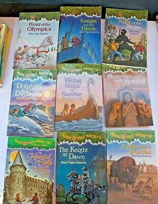 Lot of 9 Magic tree house Childrens books chapter books