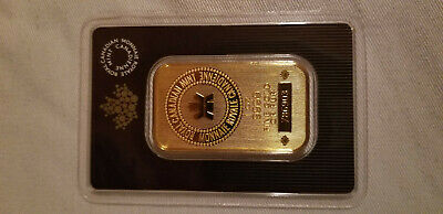 Royal Canadian Mint 1oz Gold Bar .9999 with serial number in original package