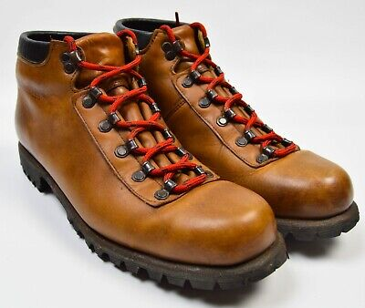 a4fcd5411c70 Wolverine Wilderness Vintage Virbram Sole Brown Leather Mens Hiking Boots  12 M