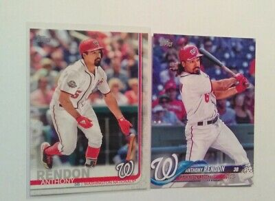 Anthony rendon Topps 2019 Series 1 #242 Plus 2018 Series 1 Base Card Lot mint cn