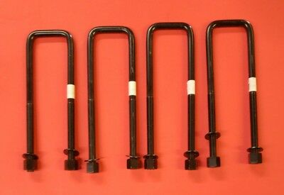 1988-1999 Silverado Sierra 1500 Yukon Tahoe Rear Leaf Spring U-Bolt Set 4  Gm