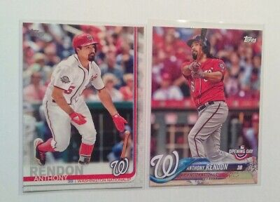 Topps Series One 2019 Anthony Rendon #242 Plus 2018 Opening Day Baseball Cards
