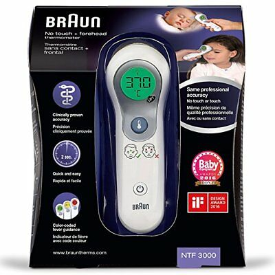 Keep Your Child Safe!-Bnib Braun Ntf 3000 Digital No Touch Forehead Thermometer