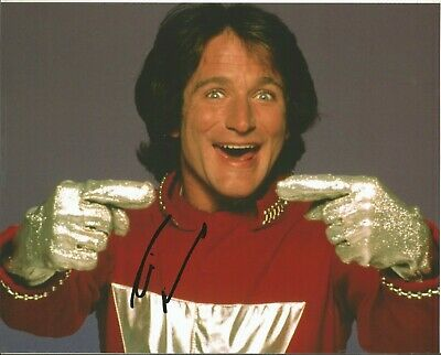 Mork & Mindy Robin Williams Signed 8X10 Planet Ork Na-Nu Na-Nu Shazbot Funny Man