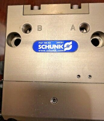 Schunk- Pnuematic Parallel Cylinder PGF+100 AS (340381) Used(Refurbished)