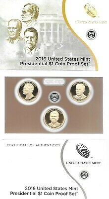 2016 U.s. Mint Presidential $1 Coin Proof Set