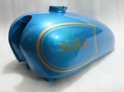 NORTON AJS MATCHLESS G12 Csr Competition Blue Painted Petrol Tank